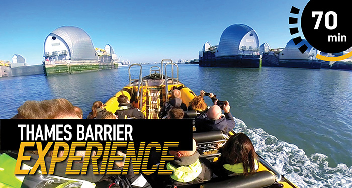 Boat tour to the Thames Barrier